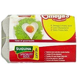 Suguna Eggs - Heart, 6 Piece Pack