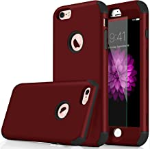 iPhone 8 plus Case,Qusum 3-in-1 Shockproof Full Body Coverage Protection Hard Slim iPhone 8 Plus Case with Tempered Glass Screen Protector for Apple iPhone 8 Plus 5.5