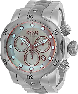 Invicta Men's Reserve Quartz Watch with Stainless-Steel Strap, Silver, 25.75 (Model: 25043)