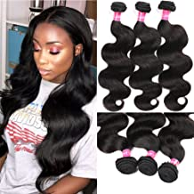 Eliana 8A Brazilian Hair Bundles Body Wave 16 18 20inch Unprocessed Virgin Human Hair Bundles Weave 3 Bundles Body Wave