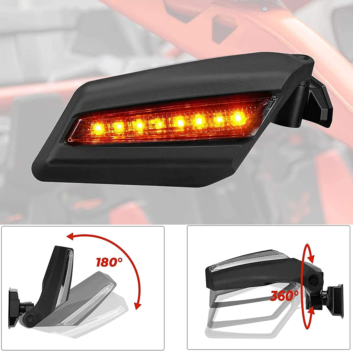 Kemimoto X3 Side Mirrors All items free shipping with Ligh New Free Shipping Turn Signal Indicator Blinker