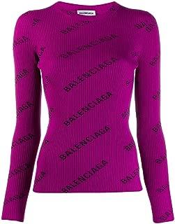 Balenciaga Luxury Fashion Womens 570844T61405272 Purple Sweater | Fall Winter 19