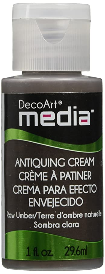DecoArt Media Antiquing Cream, 1-Ounce, Raw Umber