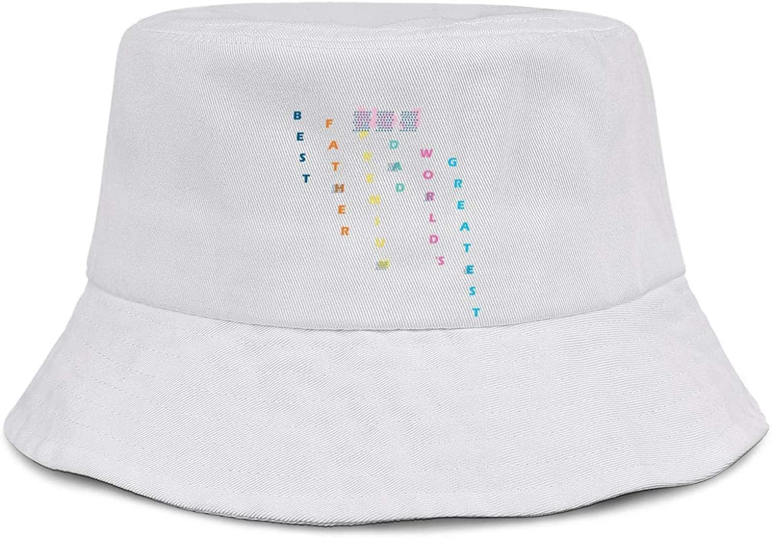 Soft Bucket Hat All Cotton Mens Womens Funny Fathers Day Spoof Super Dad Sun Cap