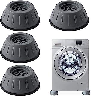 Amortisseurs lave linge,4 pièces Tapis Anti-Vibration pour Machine à laver,Tampons À Pied Machine À Laver,Pieds Anti-dérap...