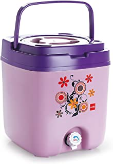 Cello Cool Trac Plastic Insulated Water Jug, 10 litres, Violet