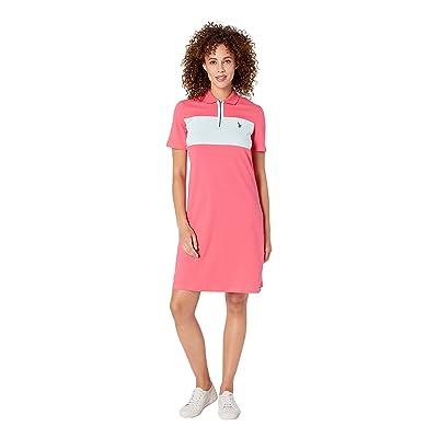 U.S. POLO ASSN. Chest Zip Pleated Dress (Shangri La Rose) Women