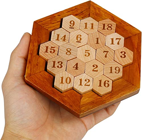 high quality PP-NEST Wooden Math Hexagon 2021 lowest Number Puzzle Sudoku Board Game FWPP-01 sale