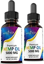 (2-Pack) 5000mg Hemp Oil Extract for Pain, Anxiety & Stress Relief - 5000mg of Pure Hemp Extract - Grown & Made in USA - 1...