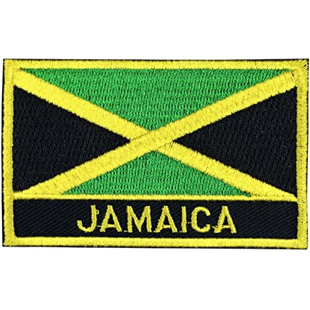 Jamaica National Flag Embroidered Iron On Sew On Patch Badge For Clothes Etc