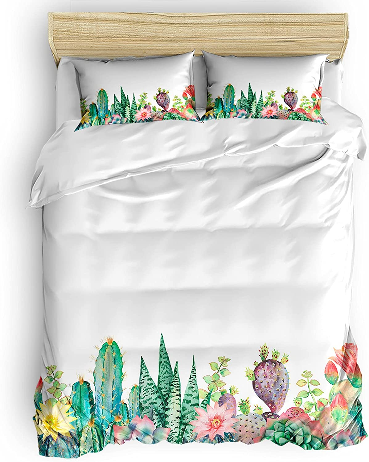 BABE Special price for a limited time MAPS Green Plants Duvet Recommendation Covers Size Queen Pieces Breathab 4