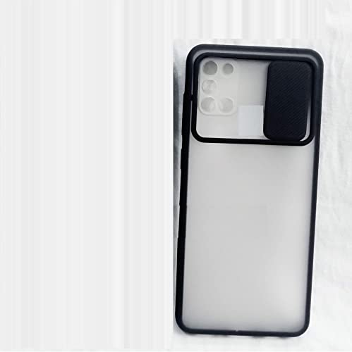 Jotech Exclusive Slider Shutter Matte Translucent Soft Edges Camera Protection Slide Back Case Cover for Samsung Galaxy M51 Black