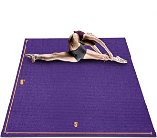 HYD-Parts Large Exercise Mat for Home Workout 8'x5'x7mm,...