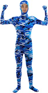 Sheface Men's and Women's Face Open Zentai Lycra Spandex Bodysuits