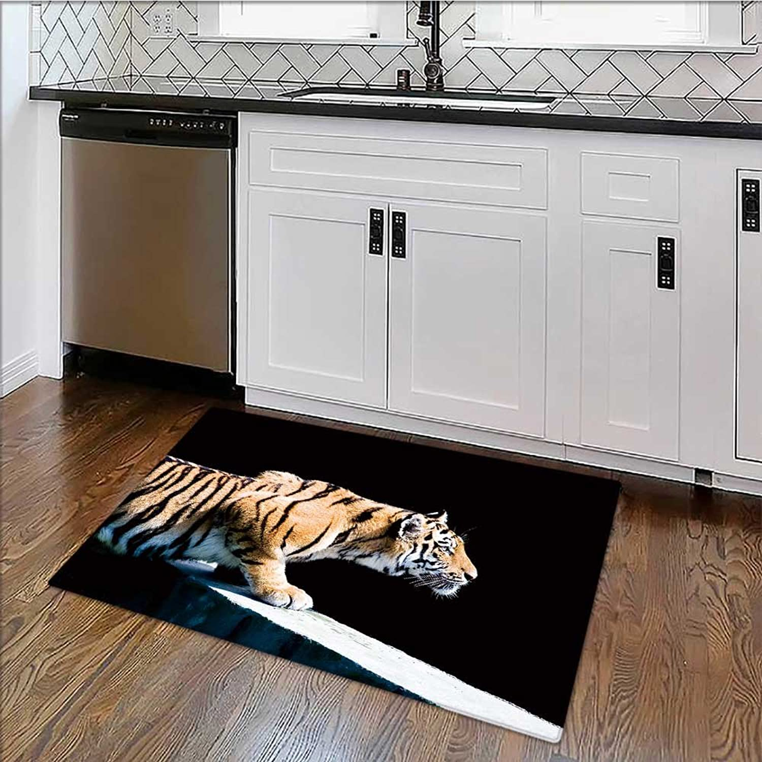 Easy to Store Rug Siberian Tiger (Panthera Tigrey altaica) Soft, Non-Slip W39 x H20