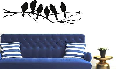 PPD 'Sparrows Branch' Wall Sticker (PVC Vinyl, 45 cm x 60 cm, Black) by Paper Plane Design