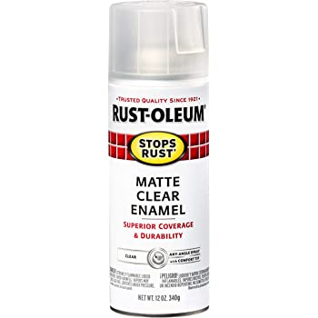 Rust-Oleum 285093 Stops Rust Spray Paint, 12-Ounce, Matte Clear