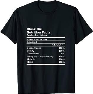 Black Girl Nutrition Facts Black Super Girl Gift T-Shirt