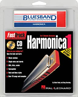Hal Leonard 820016 Mini Harmonica Fasttrack Pack with Bluesband Harmonica