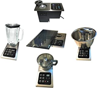 Built-in Mixer (storable-6lbs) 4 blades .1000 Watts (motor hidden under counter top) + 5 Cup Blender + 3 Cup Mini Chopper; (also replaces NuTone Food Center 251) Smoothie & Slushy Maker