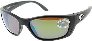 Costa Del Mar Fisch Matte Black Frame/Green Mirror Polarized Lens 64Mm