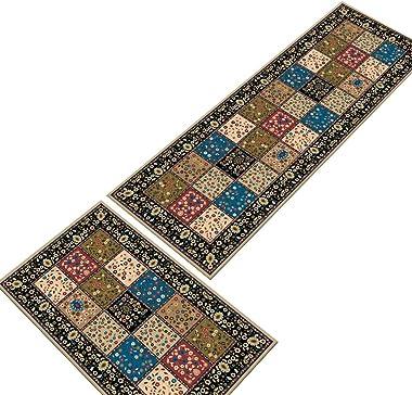 Hemoton Runner Rugs Non-Slip Area Rugs Cartoon Patterns Hallway Carpet Waterproof Rectangular Floor Mat for Home Office Kitch