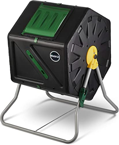 Miracle-Gro Single Chamber Outdoor Garden Compost Bin – Large Volume, Compact Design 27.7 Gallon (105 Liter) Capacity...