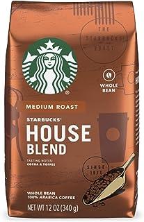 Starbucks Medium Roast Whole Bean Coffee — House Blend — 1 bag (12 oz./340g)