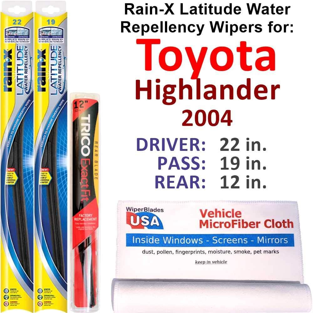 Rain-X Latitude Beam w Water Popular product 2004 2021 spring and summer new Repellency Toyota Highland for