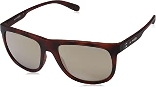 Arnette Men's Crooked Grind Non-Polarized Iridium Rectangular Sunglasses matte dark brown havana 56.0 mm