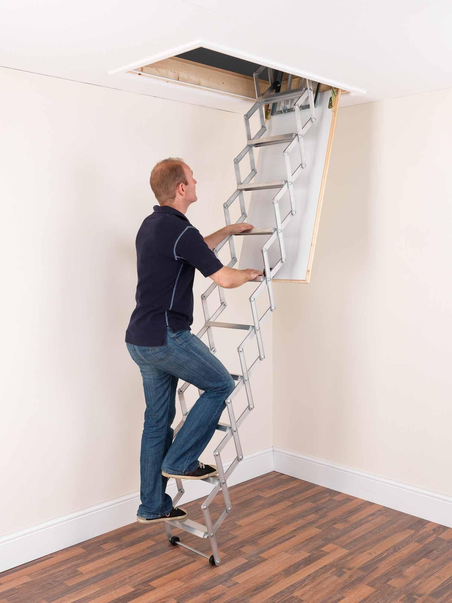 Alufix 1502-005 - Escalera para áticos (tamaño: 10 Tread): Amazon.es: Bricolaje y herramientas