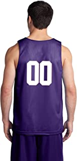 Custom Basketball Reversible Jersey - Numbers Only On Back of Both Sides