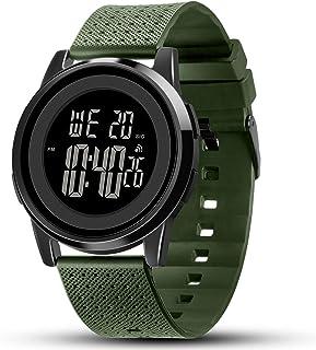 Mens Watch Ultra-Thin Digital Sports Watch Waterproof...