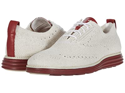 Cole Haan Original Grand Stitchlite Wing Tip Oxford (Optic White/Birch Knit/Masonry) Men