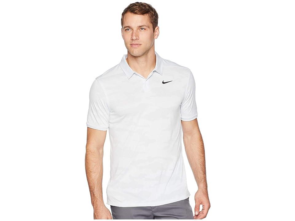 Nike Golf Zonal Cooling Polo Camo (White/Pure Platinum/Black) Men