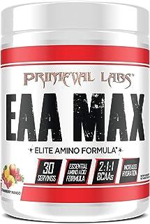 Primeval Labs EAA Max, Amino Acid Supplements, BCAAs, EAAs, Electrolytes, Enhances Performance, Supports Hydration, Improv...