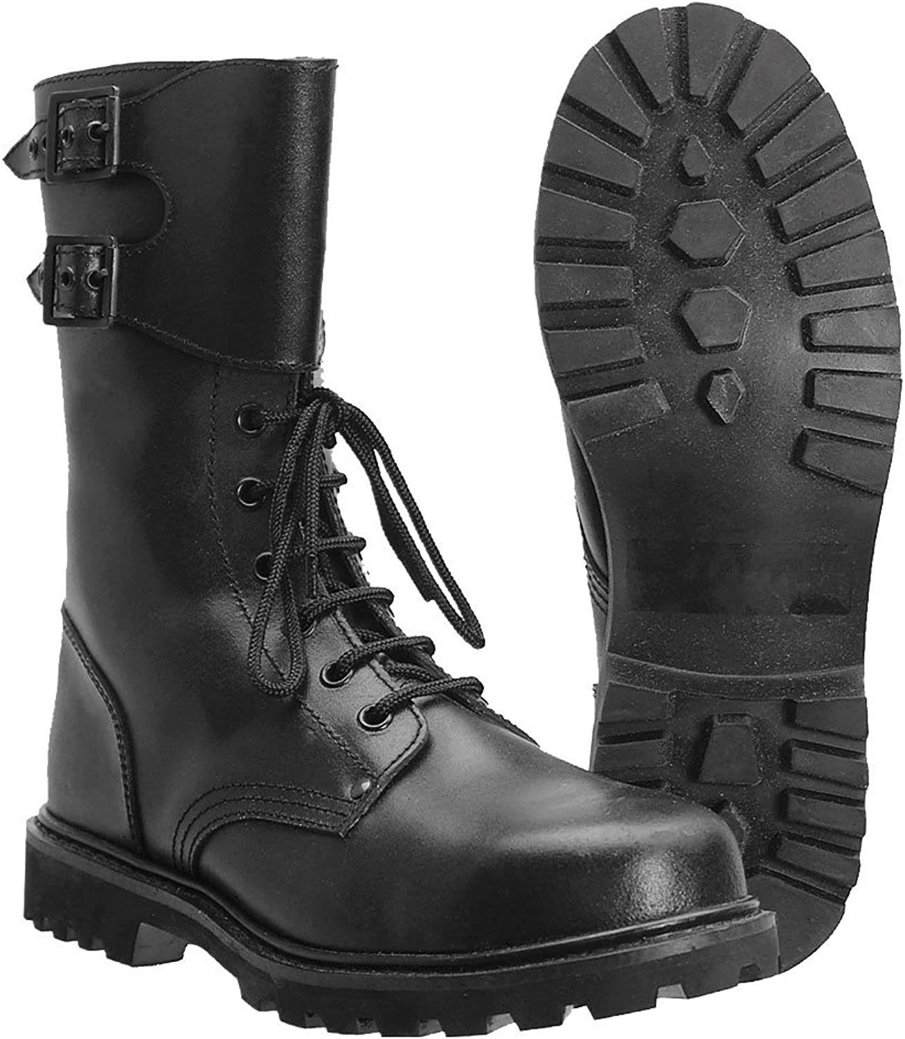 Black French Military Style Ranger Boots