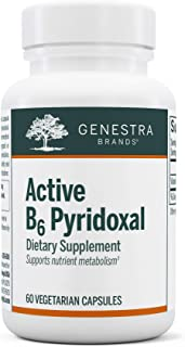 Genestra Brands - Active B6 Pyridoxal - Pyridoxal-5-Phosphate (P5P) Supplement - 60 Capsules