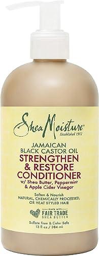 SHEA MOISTURE Jamaican Black Castor Oil Strengthen and Restore Conditioner, 384 ml, 13 Ounce (215548)