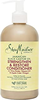 SheaMoisture Strengthen and Restore Rinse Out Hair Conditioner to Intensely Smooth and Nourish Hair 100% Pure Jamaican Bla...