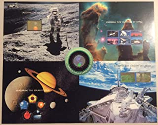 World Stamp Expo 2000 Space Achievement Postage Stamps With Holograms Uncut Press Sheet Scott 3409-13