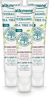alkmene Teebaumöl SOS Anti Pickeltupfer - Akute Hilfe bei Pickel, Hautunreinheiten & Rötungen - vegane Gesichtspflege ohne Silikone, Parabene & Mineralöl im 3er Vorteilspack 3x 15 ml