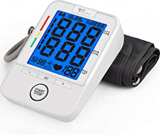 Blood Pressure Monitor - Amzdeal Upper Arm Blood Pressure Cuff BP Machine with Heartbeat Detector,