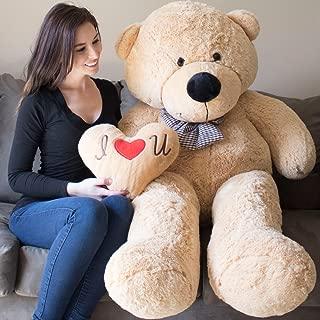 YESBEARS Giant Teddy Bear 5 Feet Tan Color Ultra-Soft (Pillow Included)