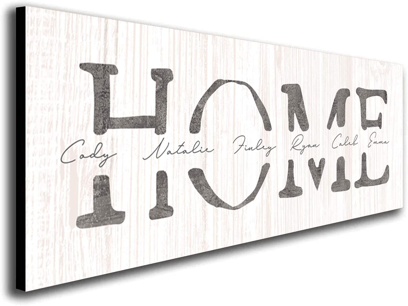 HOME 大注目 - Personalized Custom Name Wood 即納 Sign Whitewashed 9.5