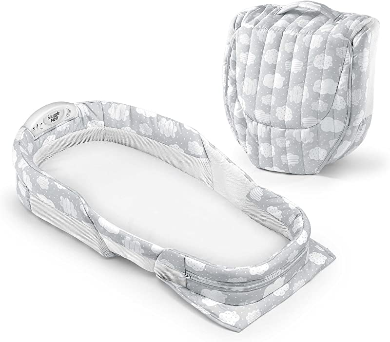 Baby Delight Snuggle Nest Surround XL Silver Cloud