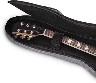 Electric Guitar Gig Bag Guitarist Backpack Waterproof Concert Tour Case, Gray