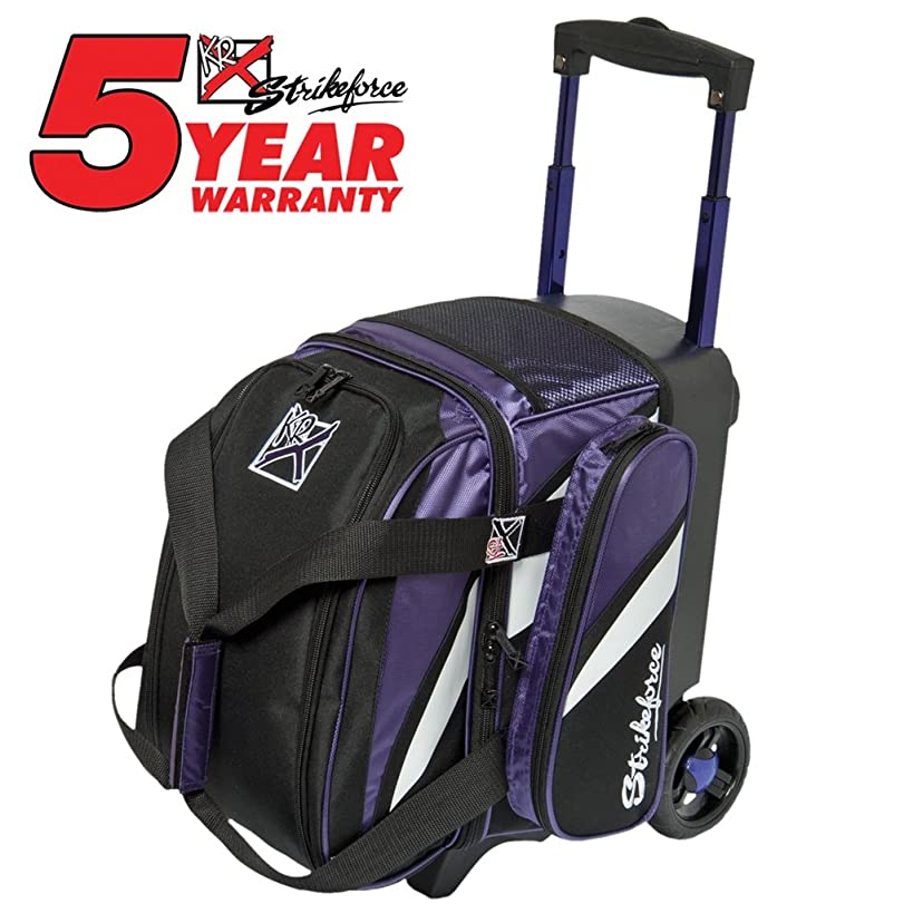 KR Cruiser Single Roller Bowling Bag- Black/Purple/White