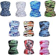 Fashion Face Dust Mask (10 PCS) Bandanas Sports & Casual Headwear Seamless Neck Gaiter, Headwrap, Balaclava, Helmet Liner