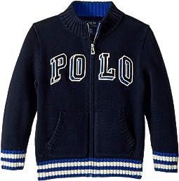 Cotton Full-Zip Sweater (Toddler)